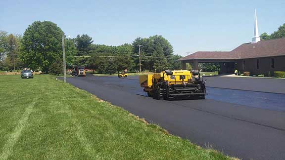 commercial paving church