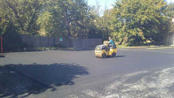 commercial paving at church