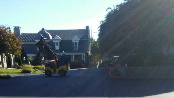 residential paving project